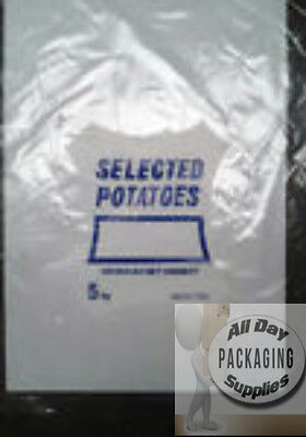 500 CLEAR POLYTHENE POTATO BAGS SACKS SIZE 14 X 19