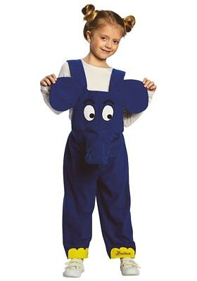 Elefant Kostüm Sendung mit der Maus blau Latzhose (Kostüm Sendung)