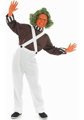Childs Chocolate Factory Worker Fancy Dress Costume Oompa Loompa Outfit New fs ()