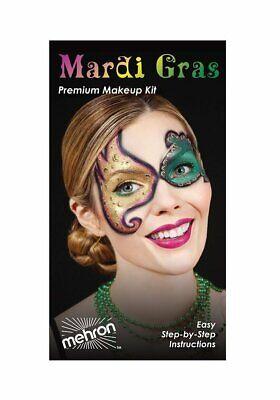Mehron Mardi Gras Masquerade Costume/Makeup Character Kit - Mardi Gras Halloween Makeup