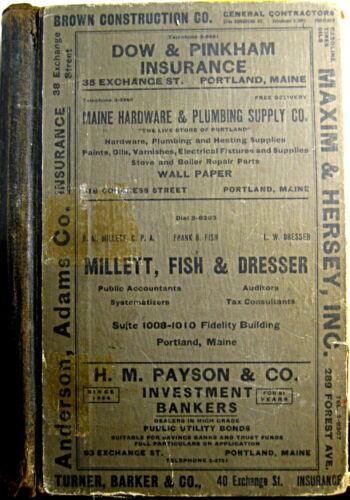 1935 Portland Maine City Directory