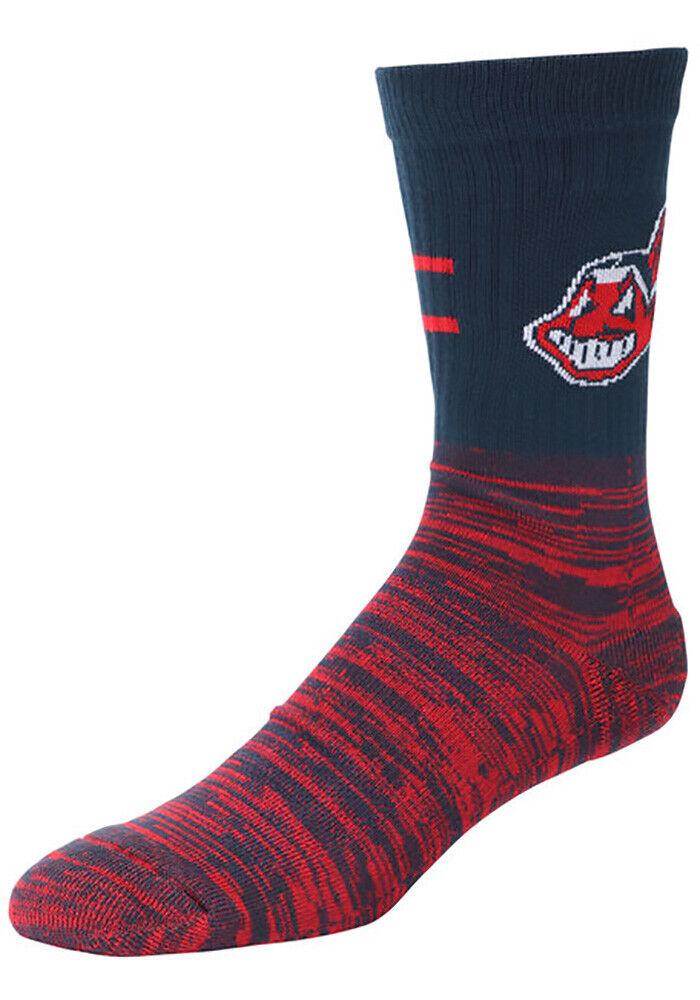 Cleveland Indians Chief Wahoo Block Crew Socks Size Medium Y
