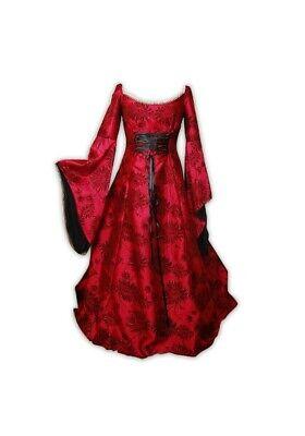 Kostüm BURGFRÄULEIN ROT/SCHWARZ Gr. 36/38 Königin Prinzessin - Fräulein Rot Kostüm