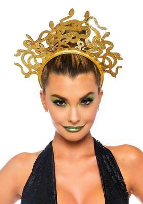 Medusa Schlangen Kopfschmuck von Leg Avenue Kostümzubehör Tiara Krone - Medusa Schlangen Kostüm