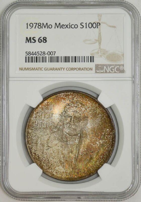1978Mo Mexico Silver 100 Pesos MS68 NGC 942947-35
