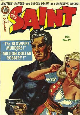 The Saint #12 Photocopy Comic Book, Simon Templar