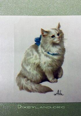 10 Alda White Cat Stickers Decals For Scrapbooking Invitations Crafts