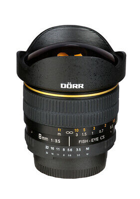 Dörr Fisheye Objektiv 8mm 1:3,5 für Sony Alpha A-Mount A37 A55 A57...