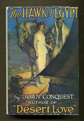 THE HAWK OF EGYPT by Joan Conquest - 1922 1st Edition in DJ on Rummage