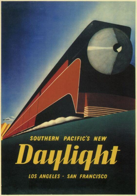 "Daylight-1937- Southern Pacific -  24x36"" Vintage Railroad Art"