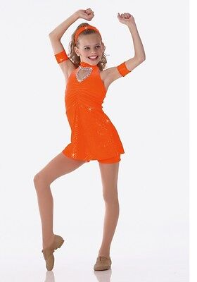 Dancing Crazy Dance Costume Shorts Top Head Wrap and Bands Child X-Small 2-3 - Crazy Baby Costumes