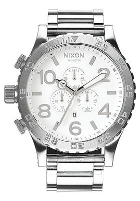 Authentic Nixon A083488 Chrono High Polish / White Men's 51-30 Watch. (Nixon 51 30 Chrono High Polish White)