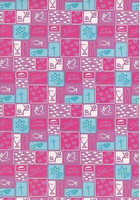 Marpa Jansen-Transparentpapier Nobless-8896-60-Patchwork-Christliche Motive-pink