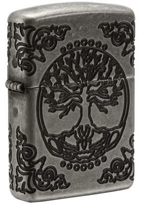 Zippo Windproof Armor Tree of Life Lighter, All Sides Engraved, 29670 New In Box