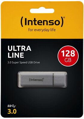 Intenso USB Stick 128GB Speicherstick Ultra Line silber USB 3.0