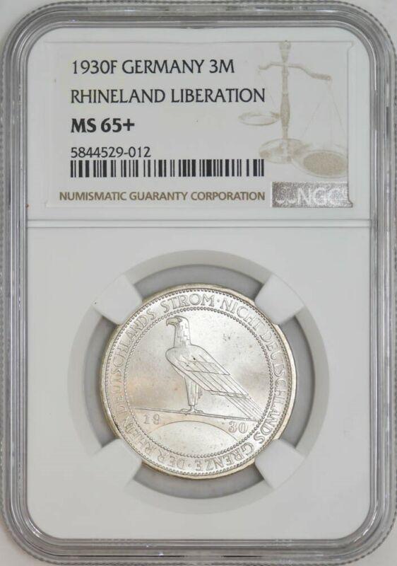 1930F Germany 3 Mark Rhineland Liberation MS65+ NGC 942947-12
