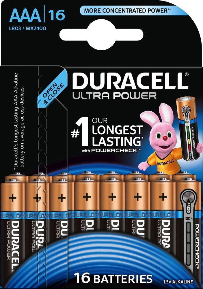 Duracell Ultra Power AAA / Micro / MX2400 Alkaline Batterien 16 Blister Auswahl
