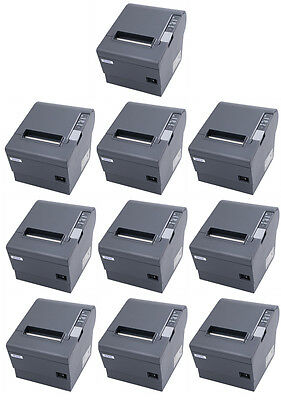 Lot Of 10 Epson Tm-t88iv Pos Thermal Printer Micros Idn Interface Dark Grey