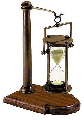 G527: Große Edle Glasenuhr, 30 Minuten Stundenglas in Kardanischem Stativ