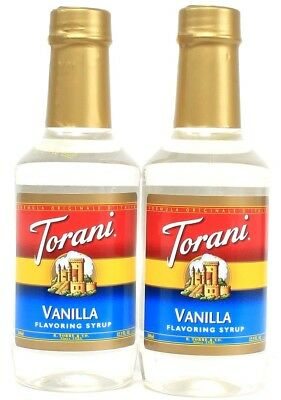 2 Torani Vanilla Flavor Syrup Add To Coffee or Beverage Best By 2-27-20