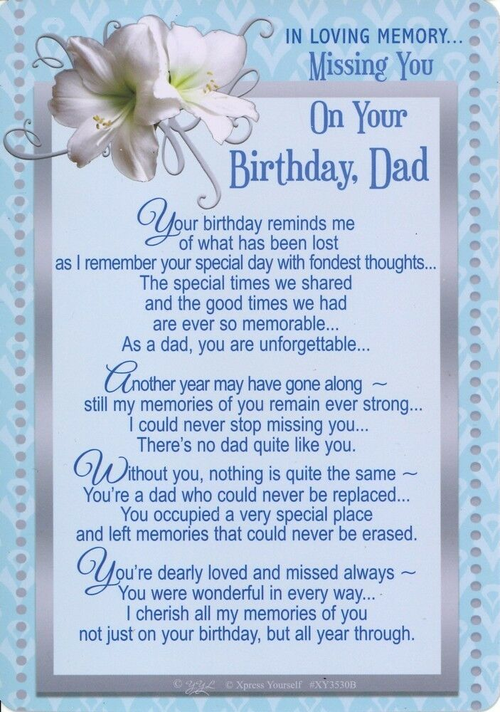 Phenomenal Grave Card Missing You On Your Birthday Dad Graveside Verse Funny Birthday Cards Online Elaedamsfinfo