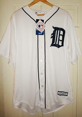 Majestic Detroit Tigers Men's White Home Cool Base Team Jersey MSRP $100 (Detroit Tigers White Majestic Jersey)