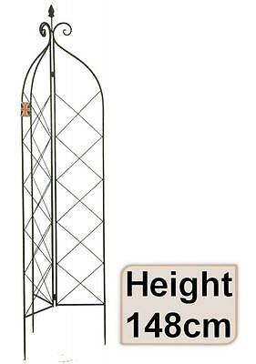 e2e Metal 148cm Decorative Garden Trellis Climbing Plant Rose Support Obelisk