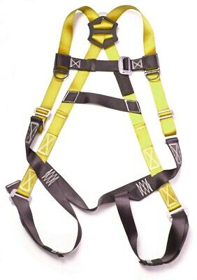 5-point Fall Protection Warehouseroofersconstruction Safety Harness - Yellow