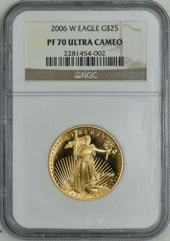 2006-W $25 American Gold Eagle PF70 PR70 Ultra Cameo NGC