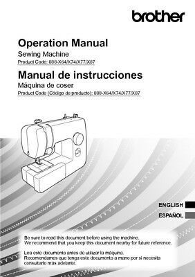 Brother Manual Sewing Machine - Brother LX3817 Sewing Machine Owners Instruction Manual Reprint