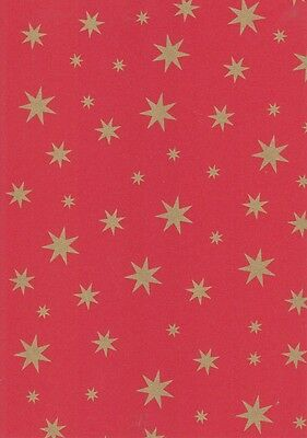 Vario Karton-Motivkarton-5487-20-rot-goldene Sterne-300g/qm