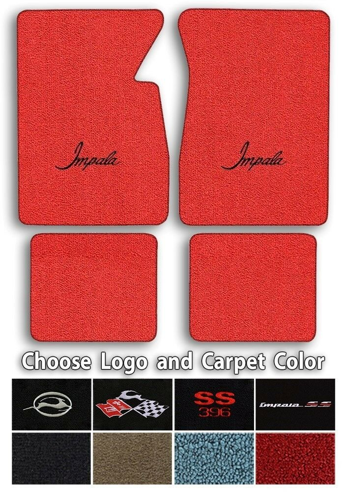 Chevrolet Impala Logo Loop Carpet Floor Mats Choose Mat Color And