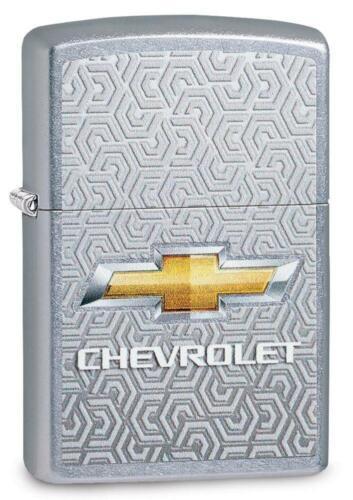 Zippo Windproof Lighter, Street Chrome, Chevrolet Logo, Chevy, 29745, New In Box