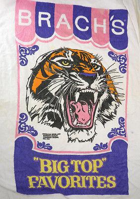 Vintage BRACH'S Candy Tiger Big Top Favorites Circus Beach Towel Promo Item 1981