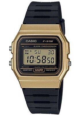 Casio F91WM-9A Classic Black Gold Sports Watch Retro Style F-91