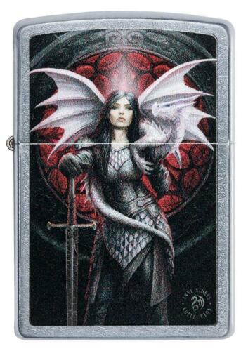 ZIPPO Anne Stokes, Female warrior with dragon, Street Chrome, Color Image 49096