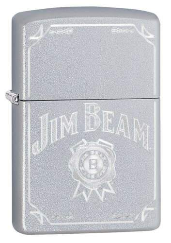 Zippo Windproof Lighter With Engraved Jim Beam Logo, 49005, New In Box