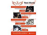 Custom exhausts, Alloy refurbs, welding,ecu remaps