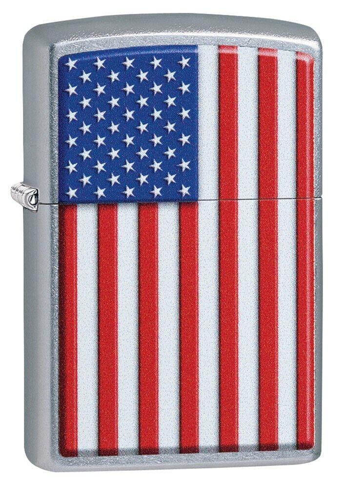 Zippo Pipe Lighter: American Flag - Street Chrome 29722PL