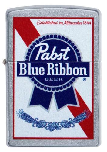 Zippo Windproof Street Chrome Pabst Blue Ribbon Lighter, 49078, New In Box