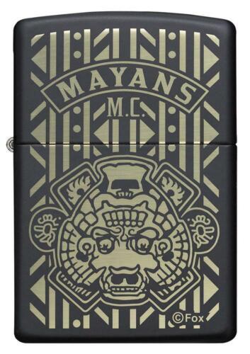 ZIPPO Mayans M.C., SOA Sons of Anarchy SAMCRO, Black Matte, Laser Engrave 49087