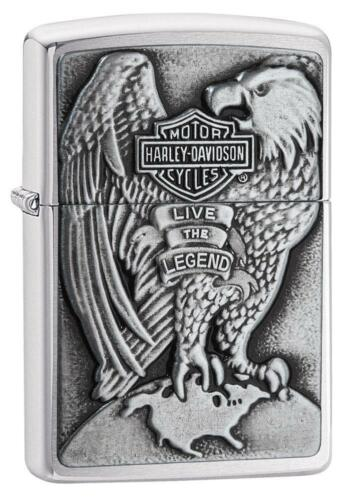 Genuine Zippo Lighter Harley Davidson Emblem Collectible USA Engrave New in Box