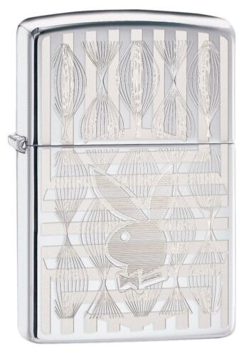 Zippo Windproof Laser Engraved Playboy Bunny Lighter, 29509, New In Box