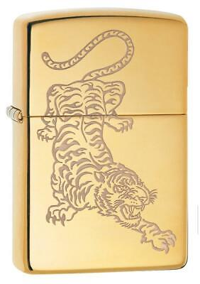 Zippo Windproof Engraved Asian Tiger Lighter, Tattoo Tiger,  29884, New In Box