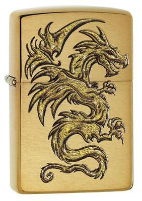 Zippo Windproof Mythological Golden Dragon Design Lighter, 29725, New In Box