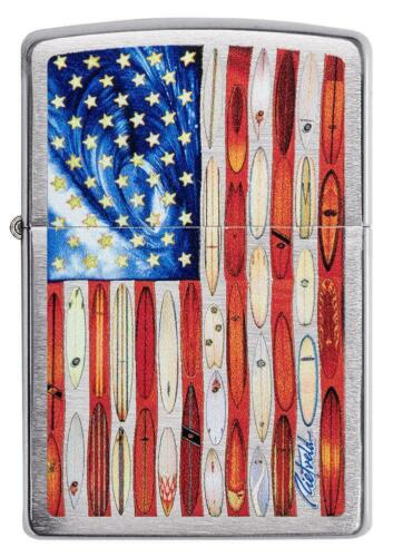 Zippo Windproof Lighter by Rietveld, American Flag Design, 49145, New In Box