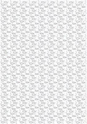Ursus-Designkarton -Kommunion / Konfirmation / Taufe-Fische-gold-60844605