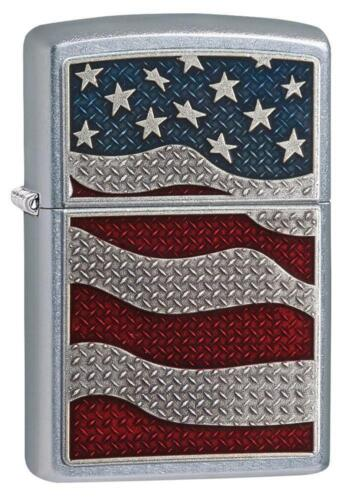 Zippo Windproof Lighter with American USA Flag Emblem, 29513, New In Box
