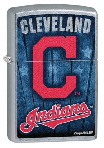 Zippo Windproof Lighter With Cleveland Indians Logo, 29974, New In Box