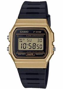 Casio F91WM-9A Classic Black Gold Sports Watch